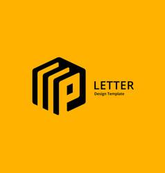 Letter p logo icon design template elements vector
