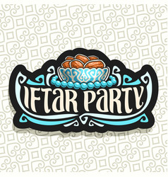Logo for ramadan iftar party vector
