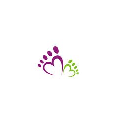 Love foot abstract beauty logo vector