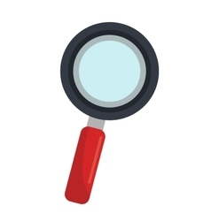 Magnifying glass isolated flat icon vector image