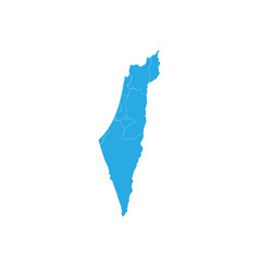 map of israel high detailed map - israel vector image