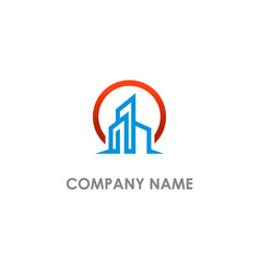 modern building realty logo vector image