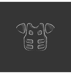 Motorcycle suit Drawn in chalk icon vector
