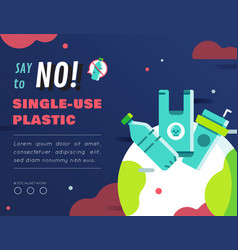 No single use plastic graphic content layout vector