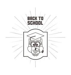Owl cartoon icon Back to school design vector