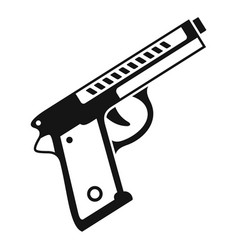 pistol icon simple style vector image