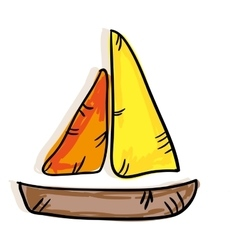 Sailboat maritime isolated icon vector