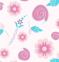 Seamless flowers colorful pattern vector image