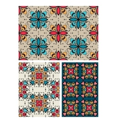 set of ten ethnic patterns vector image