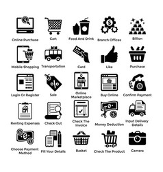 Shopping icons set 6 vector
