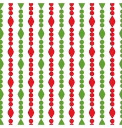Simple retro geometric Christmas pattern vector image