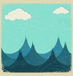 Stormy sea and clouds vector