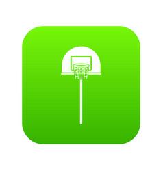 Street basketball hoop icon digital green vector