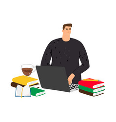 student studying vector image