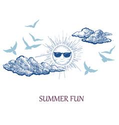 summer fun holiday background tourism seasonal vector image