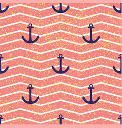 tile sailor pattern with pink and white stripes vector image