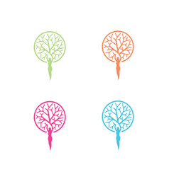 tree-women-logo vector image