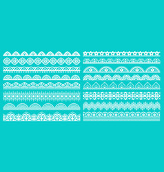 vintage lace borders seamless lace borders vector image