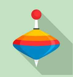 whirligig toy icon flat style vector image