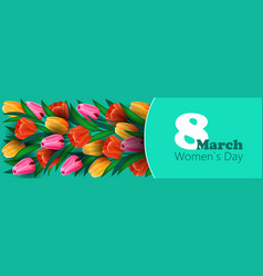Womens day 8 march holiday celebration lettering vector