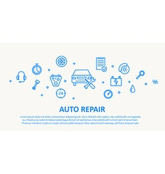 AUTO REPAIR THIN LINE DESIGN CONCEPT vector image