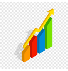 chart arrow up isometric icon vector image