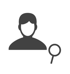 Find Male Profile vector image vector image