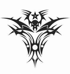 tattoo of a skull vector image vector image