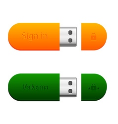 two flash drives vector image vector image