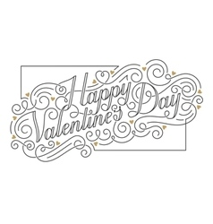 Happy Valentines Day card Hand drawn vector image