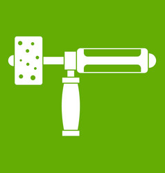 precision grinding machine icon green vector image vector image