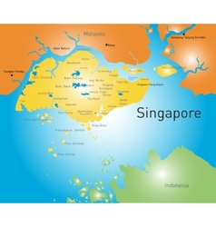 Republic of Singapore vector image