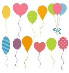 Set of birthday balloons vector