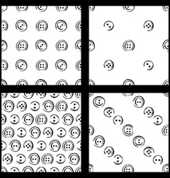 Set of seamless pattern of buttons vector image vector image