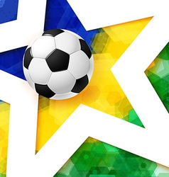 Soccer football poster Mosaic background in Brazil vector image vector image