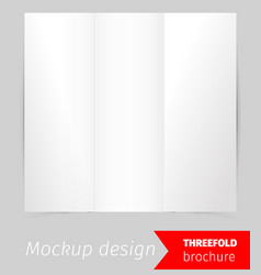 three fold brochure mockup design vector image