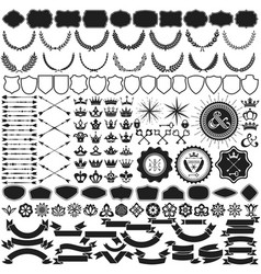 Design elements collection for crest making vector