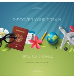 Discover your dream time to travel vector image vector image