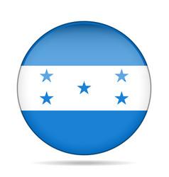 flag of honduras shiny round button vector image