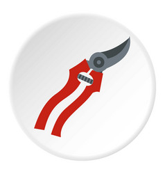 garden shears icon circle vector image