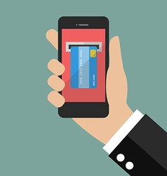 Internet banking mobile payments vector image