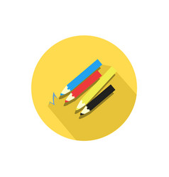 pencil icon isolated on a white background vector image vector image