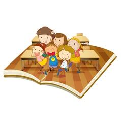 Pop up book Classroom vector image vector image