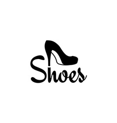 Shoes logo vector image vector image