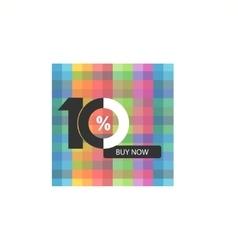 Ten symbol years anniversary logo discount vector image vector image