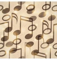 vintage music pattern vector image