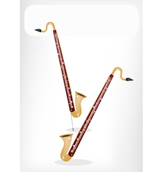 A Musical Bass Clarinet with A White Banner vector image