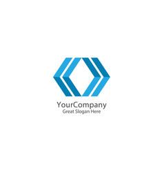 abstract arrow square logo icon technology design vector image