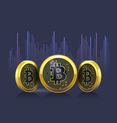 bitcoin cryptocurrency exchange rate chart vector image vector image
