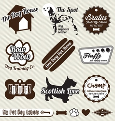 Dog and Pet Store Labels vector image vector image